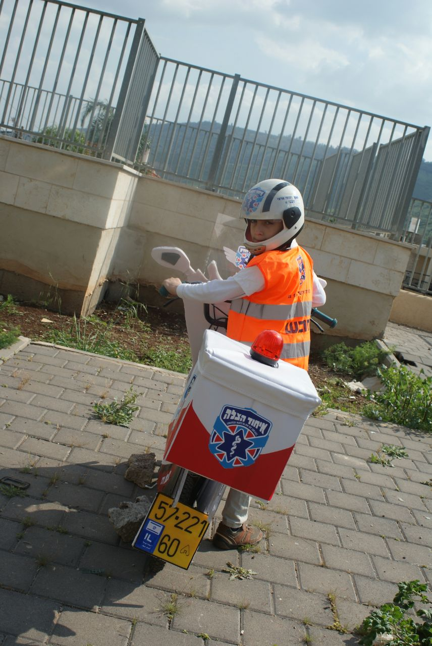 A boy and his bicycle become United Hatzalah volunteers for a day