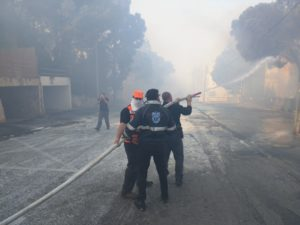 United Hatzalah volunteers assist fire and rescue services in Haifa