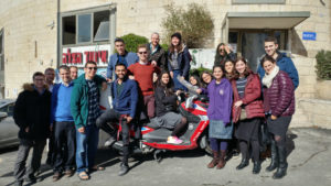 Students from Yeshive University and Stern College visit the United Hatzalah national headquarters in Jerusalem
