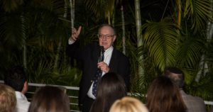 Alan Dershowitz speaking  in Florida to raise awareness for United Hatzalah