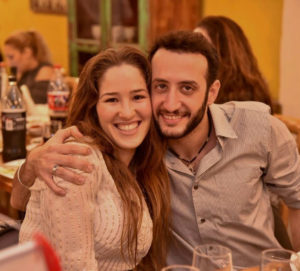 """Miri and Lior take part in a """"Neshama"""" couples activity in Tel Aviv. Both Miri (paramedic) and Lior (EMT) volunteer and save lives with United Hatzalah."""