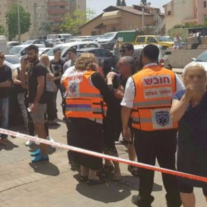 Psychotrauma Unit on scene in Kiryat Gat