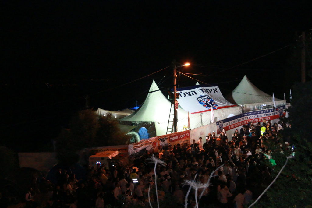 The United Hatzalah tent and emergency clinic set up in Meron