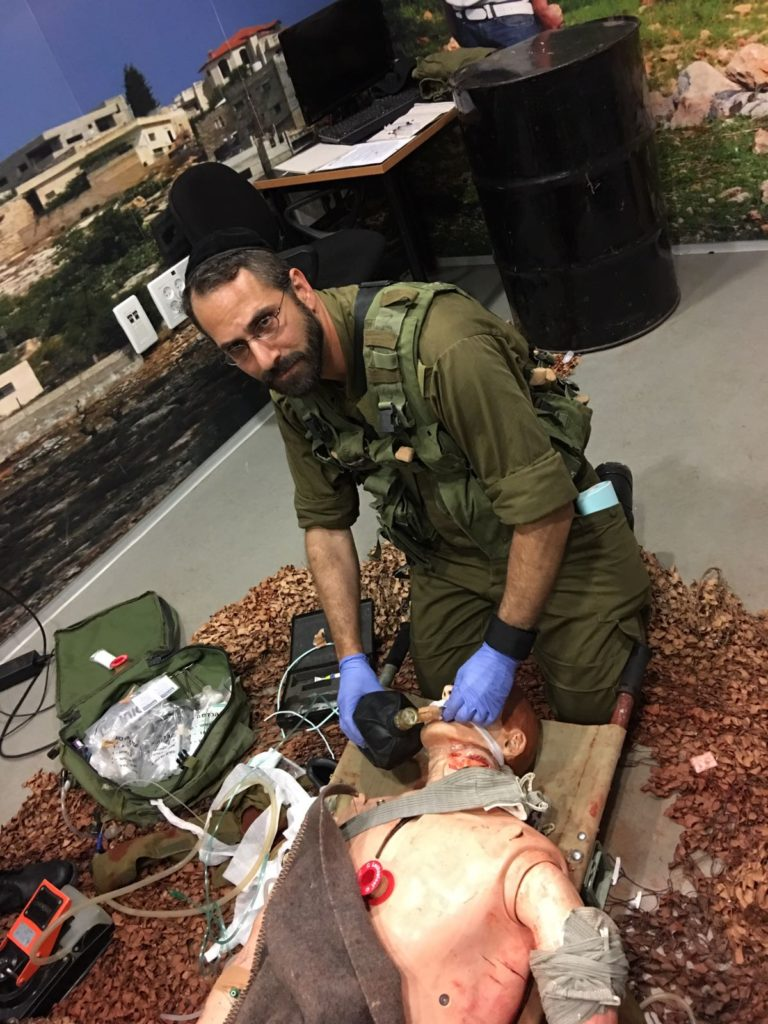 Dr. Pelta in IDF training to become an officer